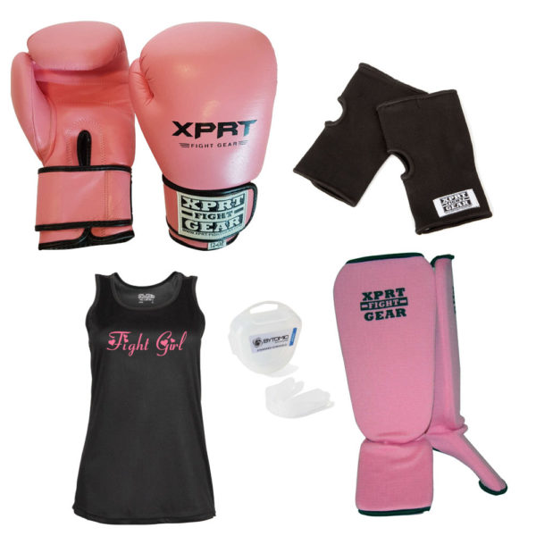 Fight Girl Kickboks Set roze (5-12 jaar)