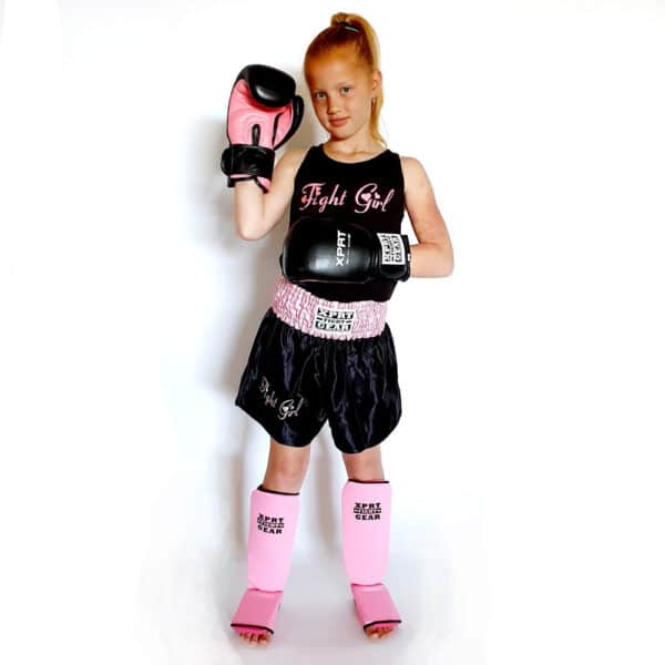 Fight Girl Kickbox set Zwart-Roze