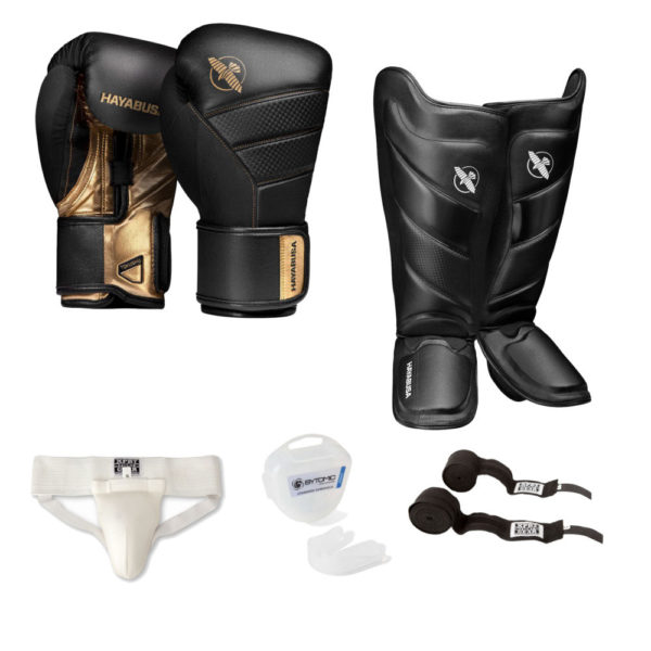 Hayabusa T3 Kickbox Set Goud