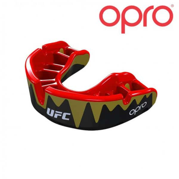 OPRO bitje Platinum Black Metal/Red